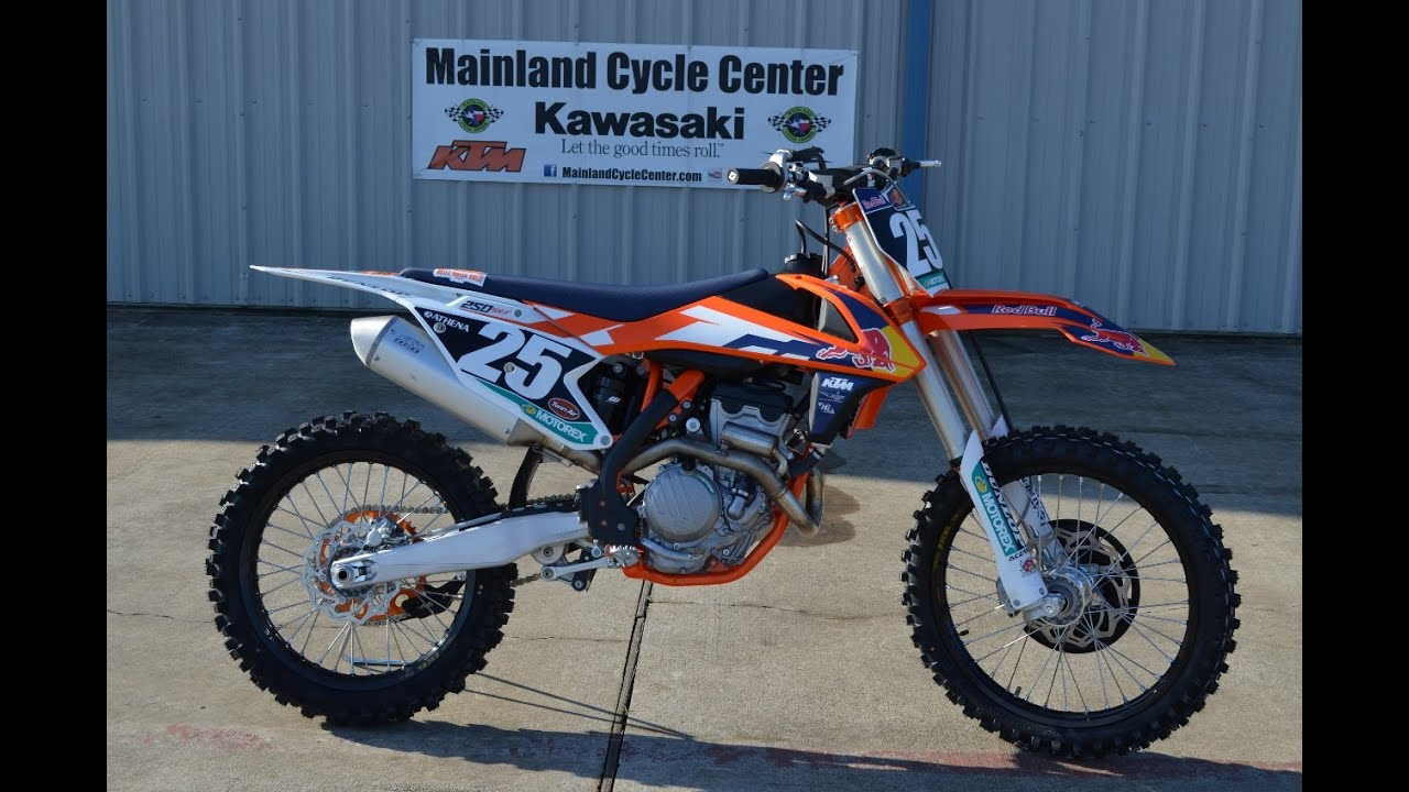 mainland's look at the 2015 ktm 250 sx-f factory special edition