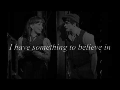 """Something to Believe In"" from the musical ""Newsies"" (LYRICS)"