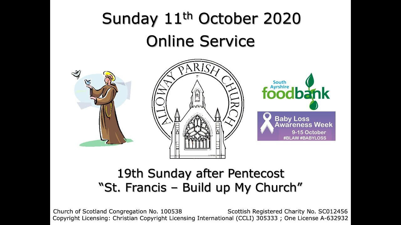 Alloway Parish Church Online Service - Sunday, 11th October 2020