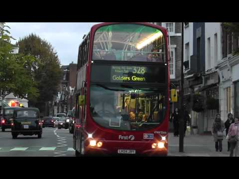 Buses & Cars at Queensway & Notting Hill Gate