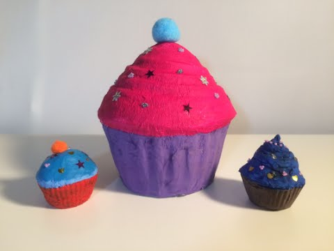 Papier Maché Taartje Of Cupcake Knutselen Met Een Taartvorm Youtube