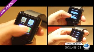 Dx : U80 PFT022 Bluetooth V4.0 Smart Wrist Wrap Watch for Android