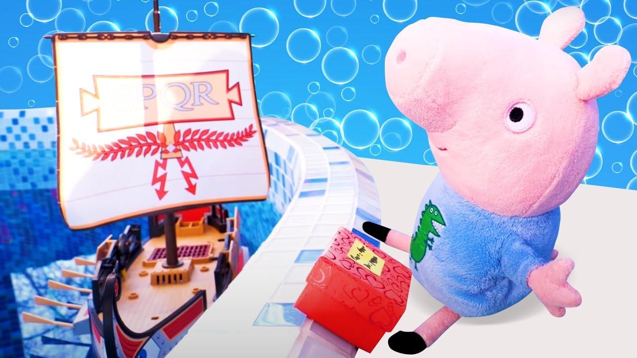 Jugando a ser cartero. Vídeos de los juguetes de Peppa Pig. Youtube para niños en español