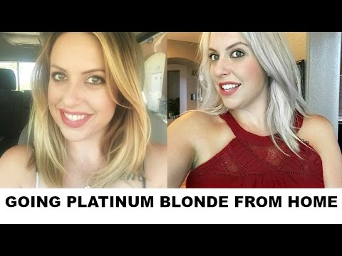 DIYGOING PLATINUM BLONDE FROM HOME