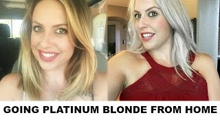 DIY-GOING PLATINUM BLONDE FROM HOME