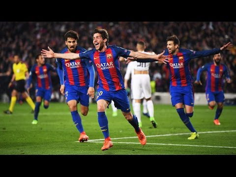 Para Barça Ultimos 10 Min  Remontada BARCELONA 6 -1 PSG  UEFA Champions League 2017