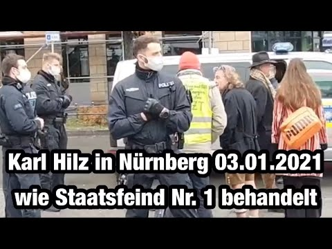 KARL HILZ HEUTE IN NÜRNBERG DEMO 03.01.2021 VON POLIZEI FESTGEHALTEN