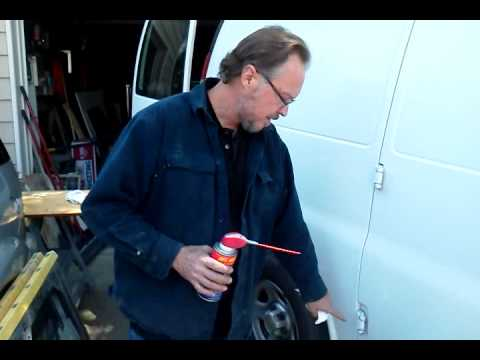 Hinge repair for Chevy express van and sprinter vans - YouTube