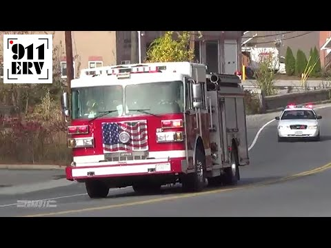 Merrimack, NH Fire Department Engine 1 and C3 Responding