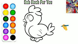 #4 How to Draw Cartoon Chicken 🐔 very easy for children's Step by step. easily 🔥