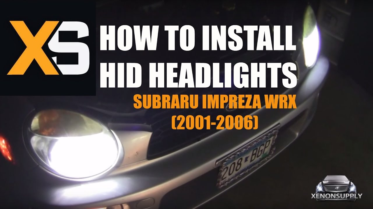 how to install bi xenon hid subaru impreza wrx 2001 06 youtube driving light relay wiring 9007 hid wiring diagram wrx #13