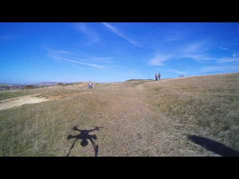 Amazing aerial drone camera views - Seaford Cliffs 4K