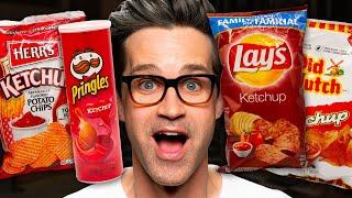 Ketchup Flavored Chips Taste Test