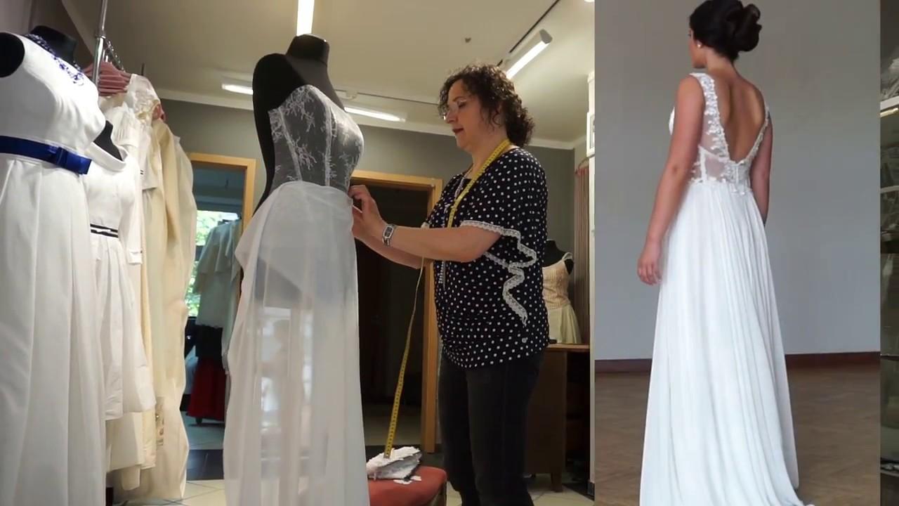 Ein Brautkleid entsteht, Bella-Donna-Mode Rostock - YouTube