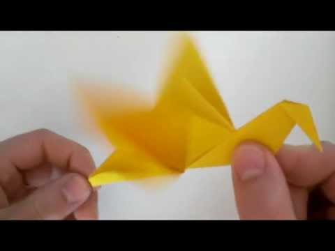 Origami Flapping Bird Youtube