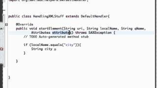 Android Application Development Tutorial - 158 - Start Element method