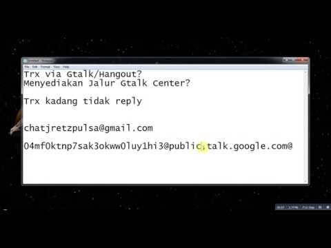Setting OLD Chat Gtalk Lancarkan Transaksi Pulsa