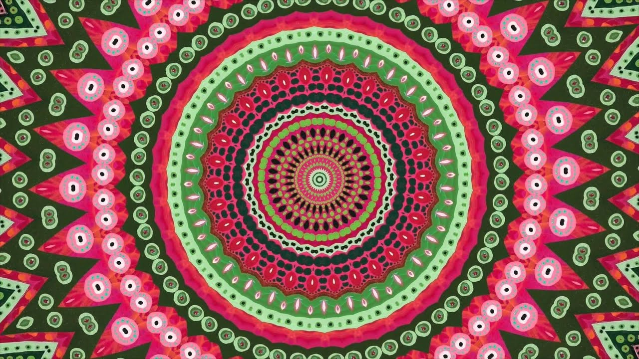 Relaxing Heart Chakra Mandala Meditation Youtube
