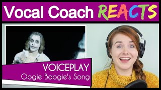 Download Vocal Coach reacts to VoicePlay - Oogie Boogies Song (Geoff Castellucci A Cappella Cover) Mp3 and Videos