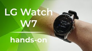 LG Watch W7 hands-on: Smart & analog blended into one