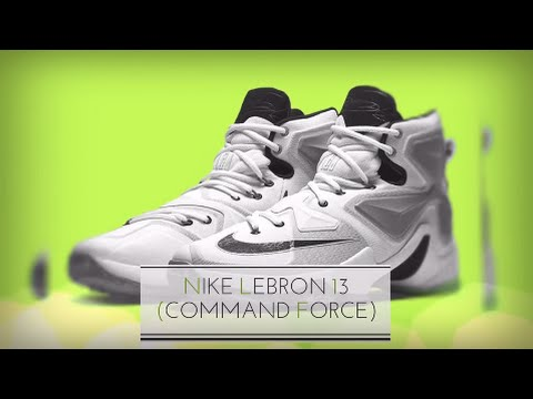 42f24bcb8ca1 NIKE LEBRON 13 (COMMAND FORCE)  SNEAKERS T - YouTube