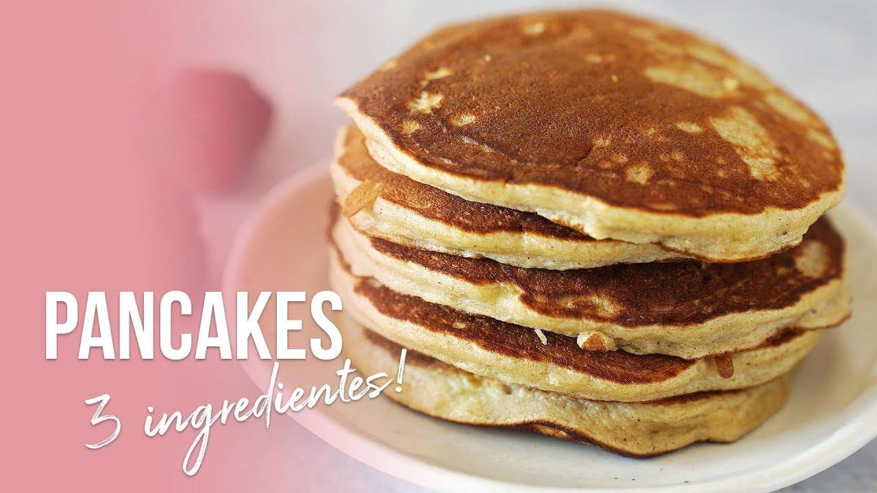 Pancakes De Avena Perfectos Sólo 3 Ingredientes Auxy Youtube