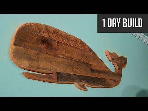Diy Pallet Whale No Measurements Needed