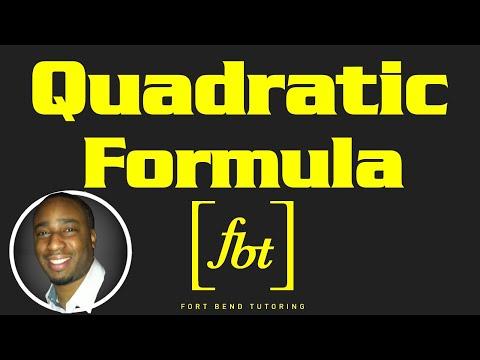 Solving Quadratic Equations The Quadratic Formula Fbt