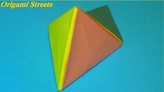Как сделать пирамиду из бумаги. Оригами треугольная пирамида