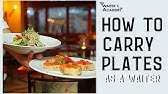 Restaurant service- how to carry plates as a waiter! How to carry a tray, serve food in a restaurant