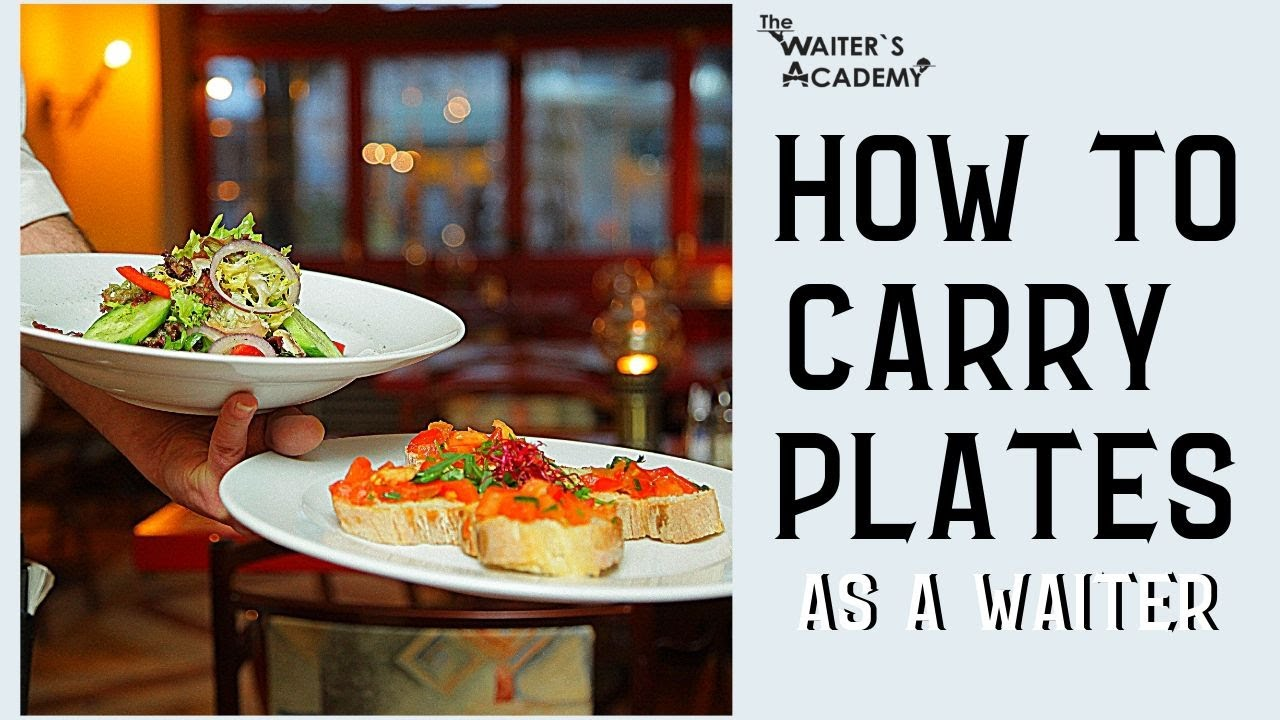 F&B Service - how to carry plates as a waiter! How to carry a tray.