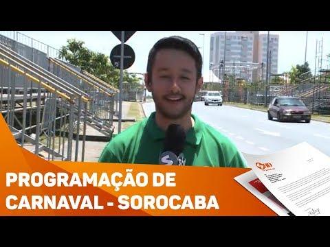 Programação de Carnaval de Sorocaba e região - TV SOROCABA/SBT