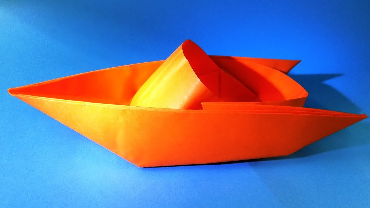 how to make a paper boat that floats origami boat youtube