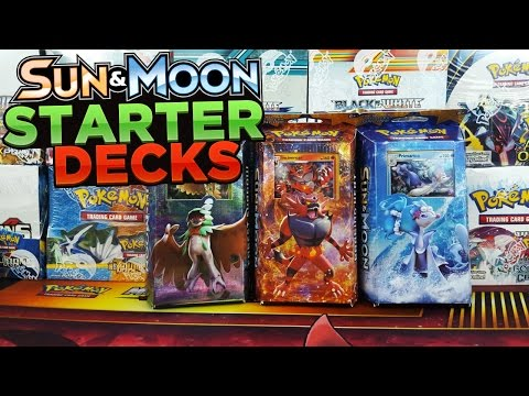 OPENING ALL 3 SUN AND MOON THEME DECKS OF POKEMON CARDS