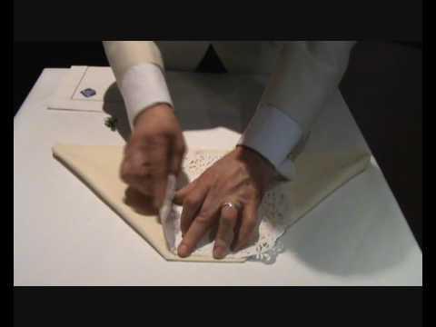 Napkin Folding Bride Wedding Fold Youtube