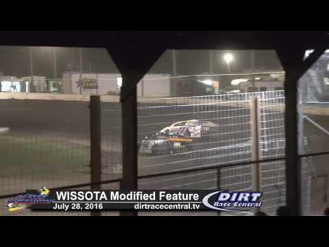 KRA Speedway 7/28/16 WISSOTA Modified Race Highlights