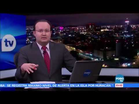 Mexico City gets warning of Earthquake on Live TV (Seismic Alert System demonstration)