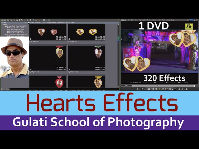 14 Heart Effects | Edius 7 ,8 and 9 Software Effects | Wedding Effects | Mask Effects | 320 Effects