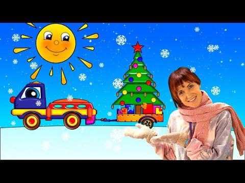 Видео: Маша Капуки и Новый год - Развивающий мультик для малышей про машинки - Трансформер Пома и елочка