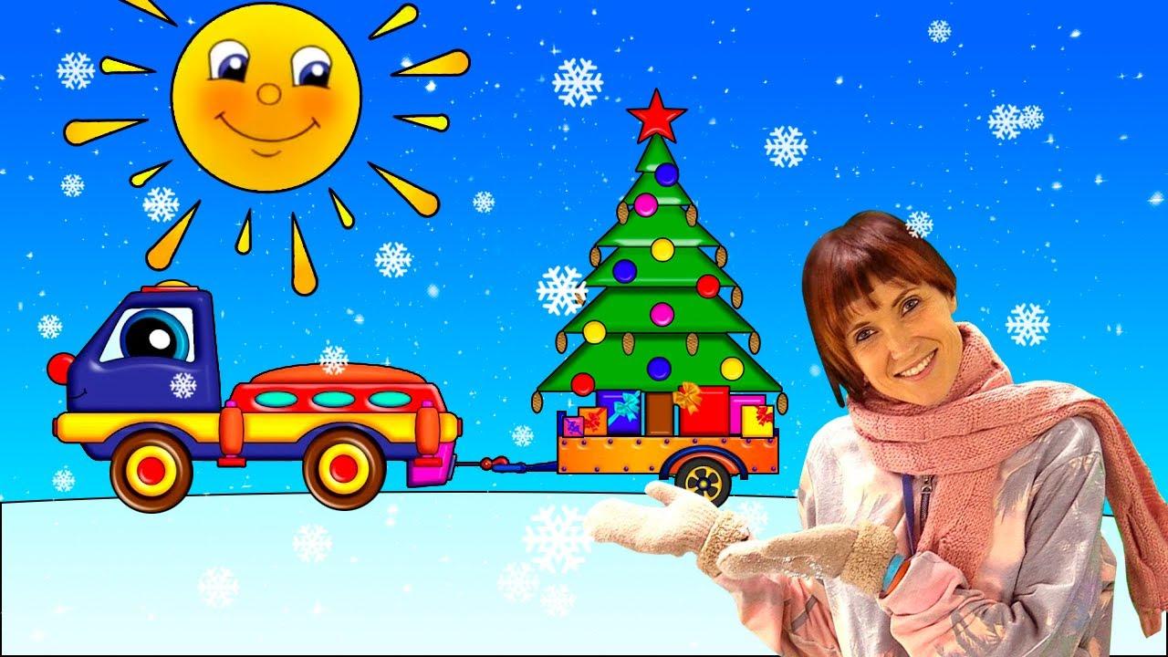 Маша Капуки и Новый год - Развивающий мультик для малышей про машинки - Трансформер Пома и елочка