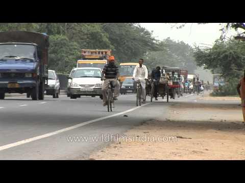 Congestion free traffic on the roads of Faridabad, Haryana