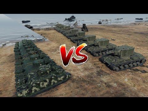 World of Tanks - 10 KV-2 vs 10 O-I [ Versus Seri ]