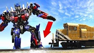 ¿Pueden +100 Transformers parar el tren en GTA 5? - Experimentos Grand Theft Auto 5 (GTA V)(Pueden +100 Transformers parar el tren en GTA 5? - Experimentos Grand Theft Auto 5 Los mejores vídeos de gta 5 online, trailer, dlc, guia, novedades, mods, ..., 2016-11-07T21:30:01.000Z)