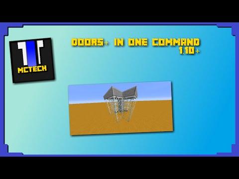 MORE DOORS IN ONE COMMAND! [Minecraft] [1.10] [OnlyOneCommand]