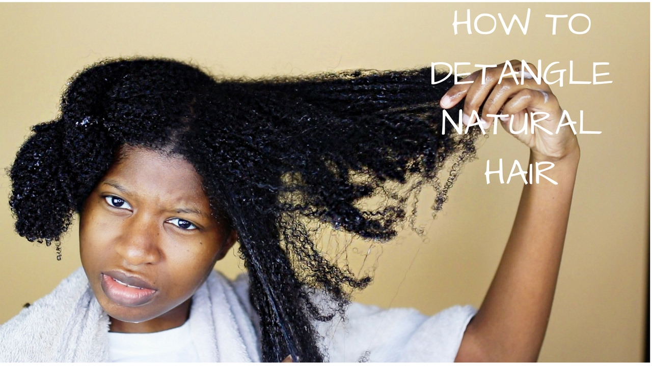 How To Properly Finger Detangle Natural Hair