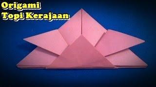 Origami Topi | Cara Membuat Origami Topi Kerajaan