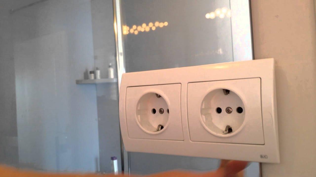 Stopcontact in Spiegel - YouTube