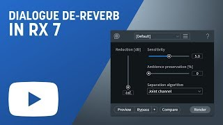 Remove Reverb with Dialogue De-reverb in RX 7 Advanced