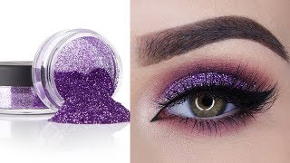 Glitter Eyeshadow for Party | Perfect Eye Makeup Tutorial for Beginners | Step by Step