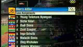 YouTube   2004 Olympic Mens 400m Heat 6